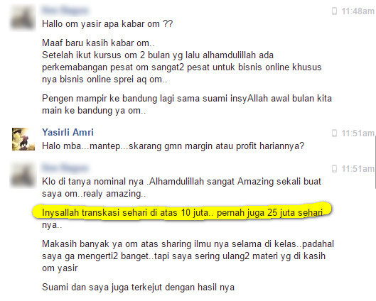 testimoni private fb ads yasirli amri