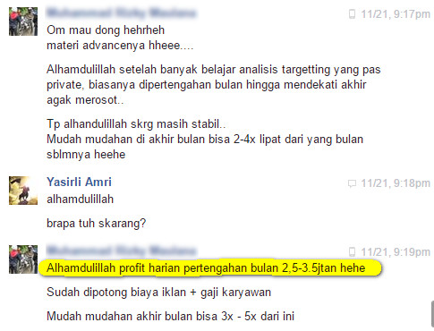 testimoni provate fb ads yasirli