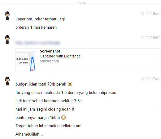 Testimoni Private Facebook Ads - Yasirli