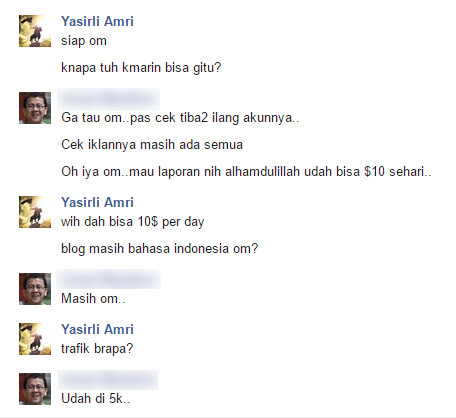Testimoni Private Google Adsense